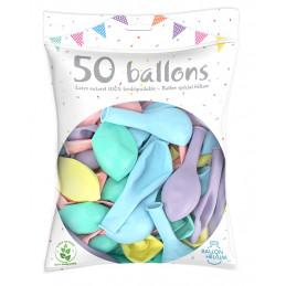 50 Ballons Pastel 10p  (26...