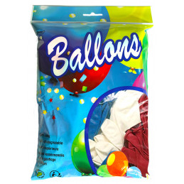 100 Ballons bleus, blancs,...