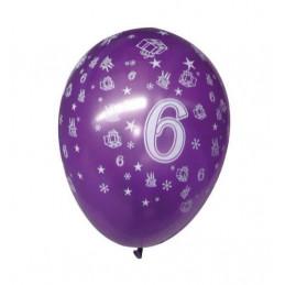5 ballons nacrés 12p en SC...