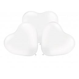 3 Ballons XL coeur blanc 45cm