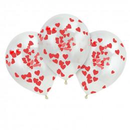 3 Ballons confettis Coeur...