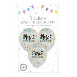 3 Ballons 30 cm confettis...