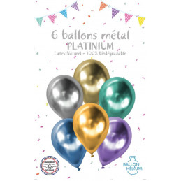 6 ballons 12 '' platinium...