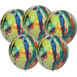 5 Ballons marbrés 30 cm