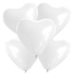 5 Ballons petit coeur blanc...