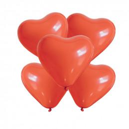 5 Ballons petit coeur rouge...