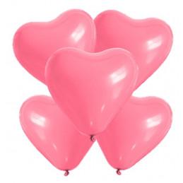 5 Ballons petit coeur rose...