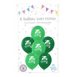 6 Ballons imprimés St Patrick