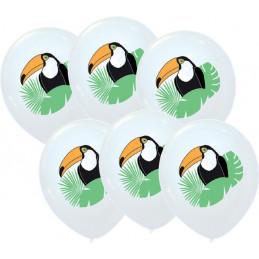 6 Ballons imprimés Toucan