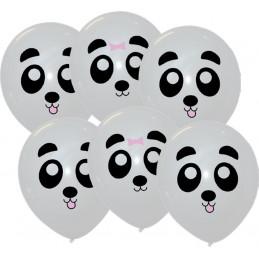 6 Ballons imprimés PANDA