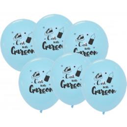 6 Ballons Bleus 30 cm -...