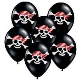 6 Ballons latex PIRATE 30 cm