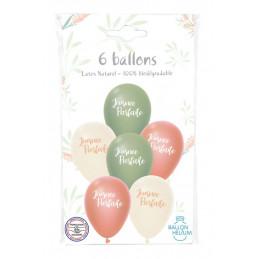 6 ballons imprimés JOURNEE...