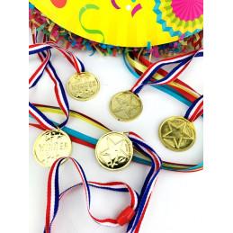 Set de 5 médailles d'or