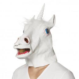 Masque latex Licorne corne...