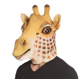Masque tete latex Girafe...