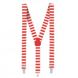 Bretelles Rayé rouge/blanc