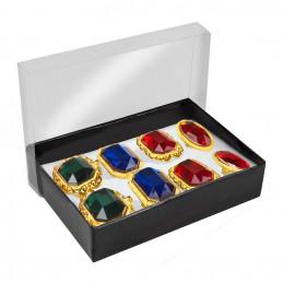 Boîte à bijoux avec 8 bagues