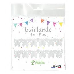 Guirlande Papillon 4m - Blanc