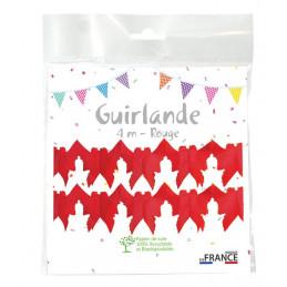 Guirlande Colombe 4m - Rouge