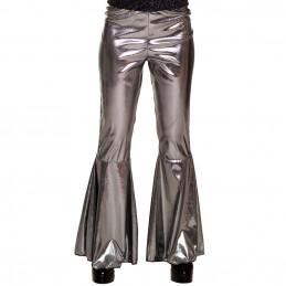 Pantalon flare argent (M...