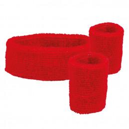 Set 3 Bandeaux éponge rouge
