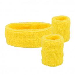 Set 3 Bandeaux éponge jaune