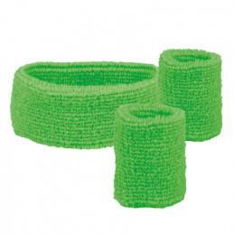 Set 3 Bandeaux éponge vert...