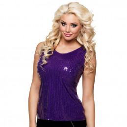 Top Sequins violet (M)