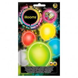 5 ballons lumineux latex 23...