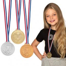 3 Médailles podium ( diam 6...