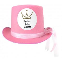 Chapeau feutre rose Reine...