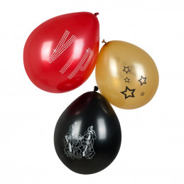 6 Ballons latex 25 cm  VIP...