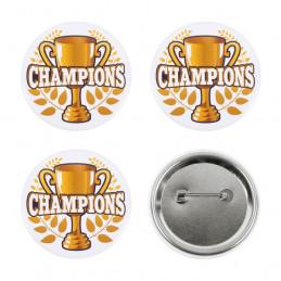 4 Boutons Champions (5,5 cm)