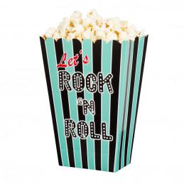 4 Bols de PopCorn Rock'n Roll